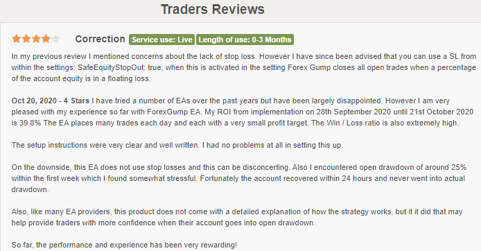 Review from Forexpeacearmy