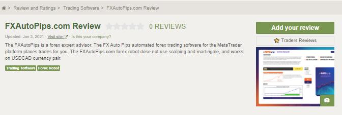 FXAutoPips EA customer Review