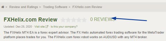 FXHelix Review: No customer Reviews