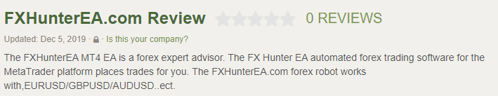 Forex Hunter Customer Reviews