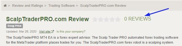 Scalp Trader Pro Review: No Customer Reviews