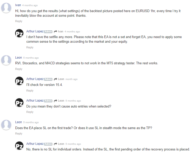 PZ Hedging EA Review: User Engagement